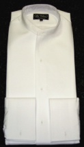 Collarless full formal white tie shirt starched marcella front (takes separate wing collar) 2/3 day