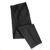 Black trousers to match plain jacket and waistcoat. Lightweight wool/poly lycra cloth